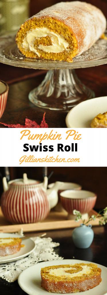 pumpkin pie swiss roll long pin
