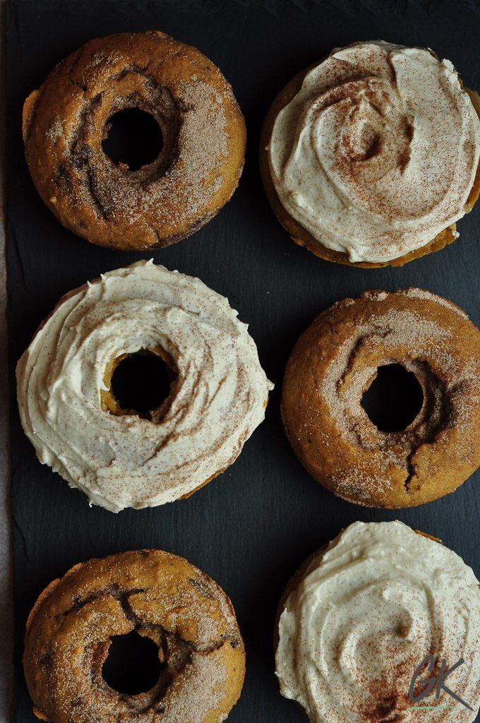 pumpkin pie baked doughnuts portrait six