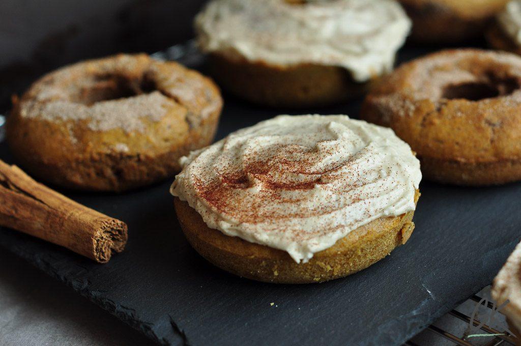 pumpkin doughnuts first picture