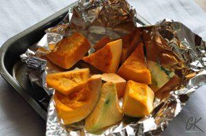 pumpkin pie swiss roll pumpkin in foil