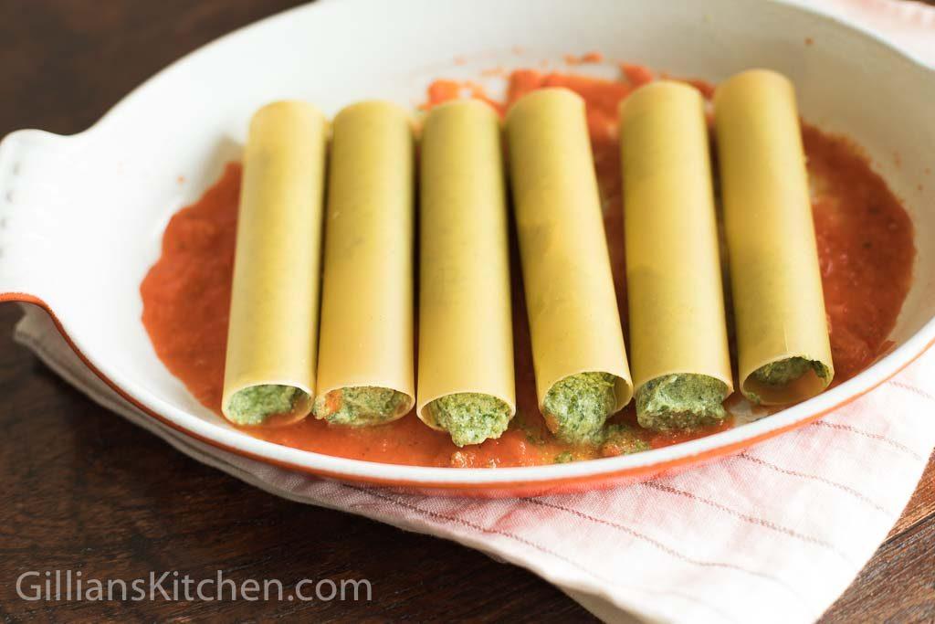 spinach & ricotta cannelloni