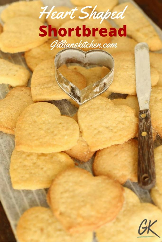 heart shaped shortbread pin