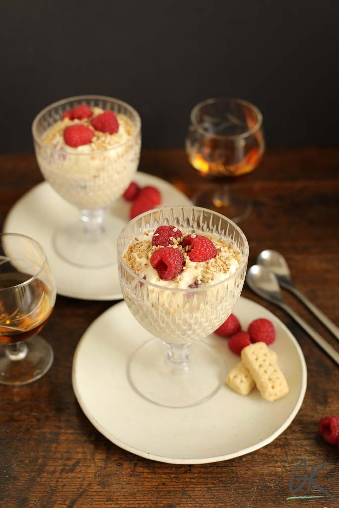 Raspberry Cranachan and whisky