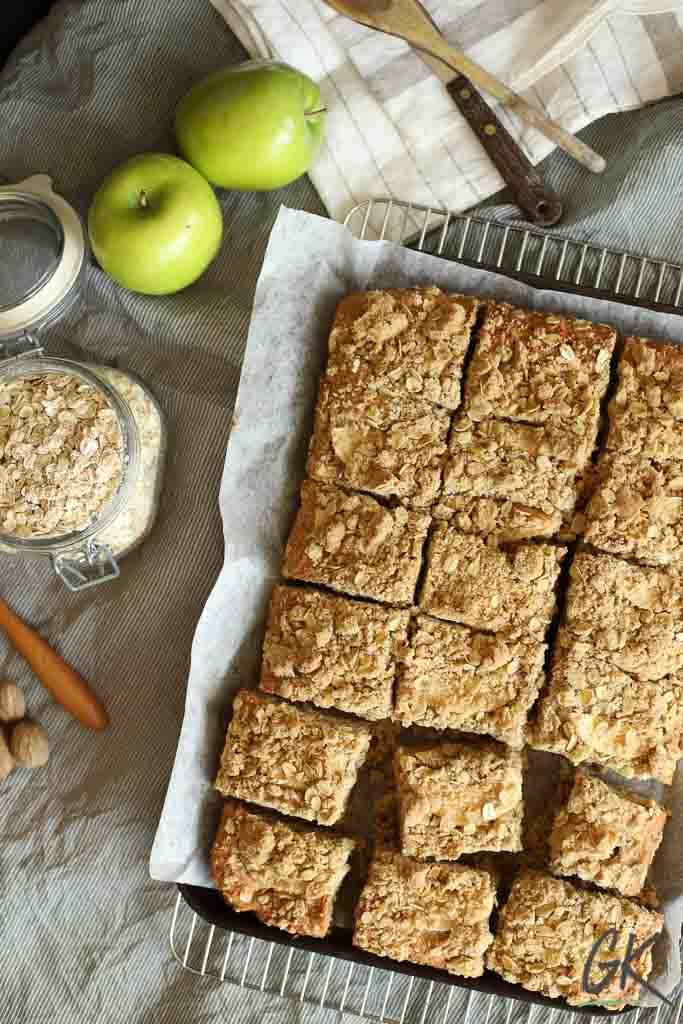 Apple Crumble Breakfast Muffin Tray Bake from above 2