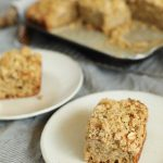 Apple Crumble Breakfast Muffin Tray Bake slice