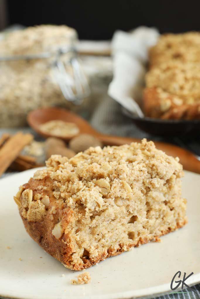 Apple Crumble Breakfast Muffin Tray Bake slice 2
