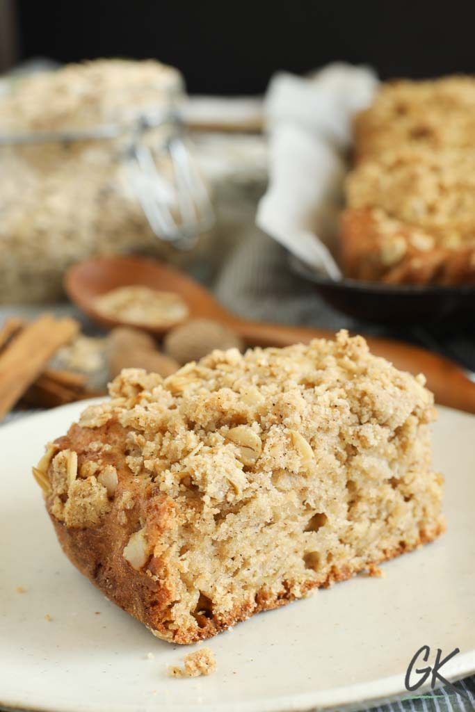 Apple Crumble Breakfast Muffin Tray Bake slice 2