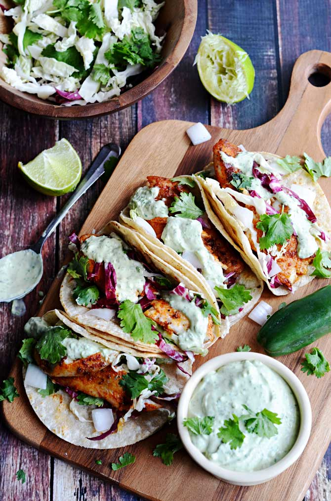 fish tacos for weekly meal plan week 9