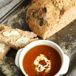 Spiced Roast Pepper & Tomato Soup from above