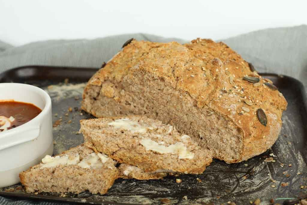 Traditional Irish Brown Soda Bread: A quick easy healthy ...