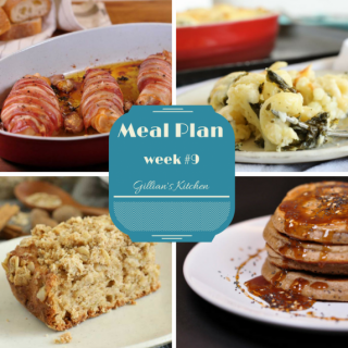 Weekly Meal Plan Week 9