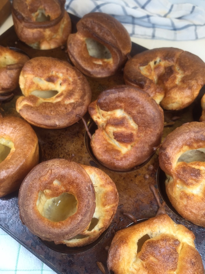 Yorkshire Puddings out the oven