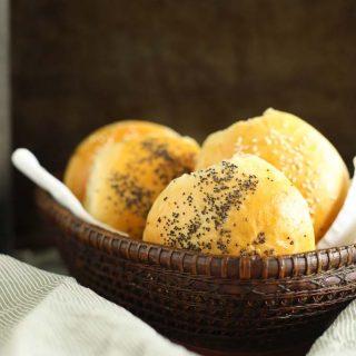 Golden Seeded Bread Rolls