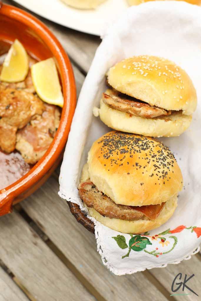 pork saltimbocca in a roll
