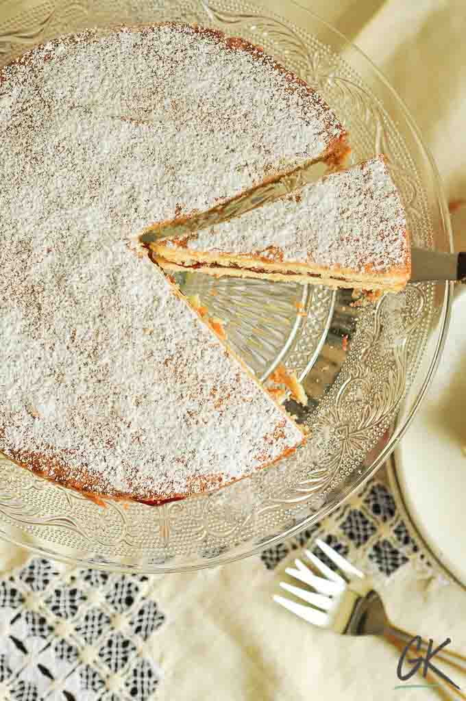 Classic Victoria Sponge Cake from above whole