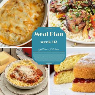 Weekly Meal Plan (Week 12)