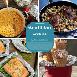 Weekly Meal Plan (Week 14)