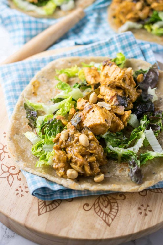 Salmon curry wraps meal plan week 12