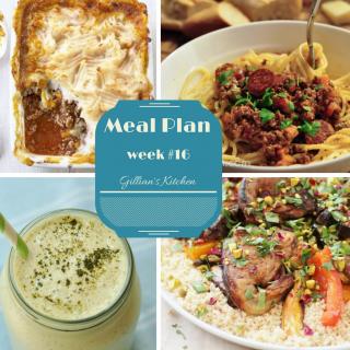 Weekly Meal Plan (Week 16)