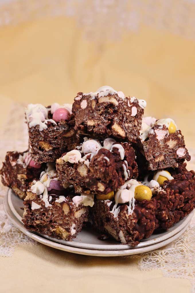 Chocolate Crispy Fridge Cake-7