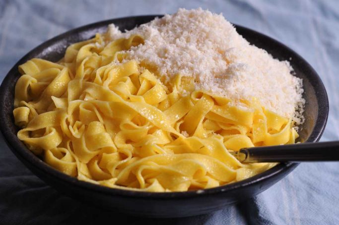 Alfredo's famous fettuccine with the melted butter and parmesan