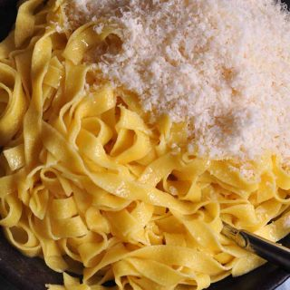 Alfredo's fettuccine with the melted butter and parmesan portrait