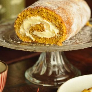 pumpkin pie swiss roll portrait
