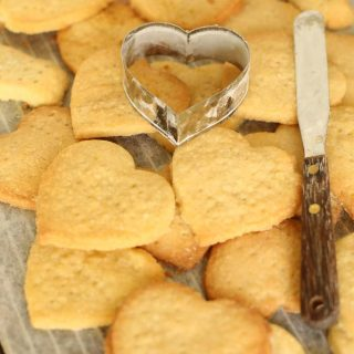 heart shaped shortbread with cutter