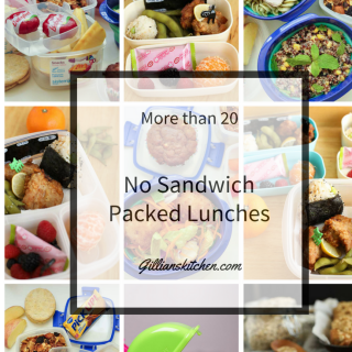 More than 20 No sandwich packed lunches