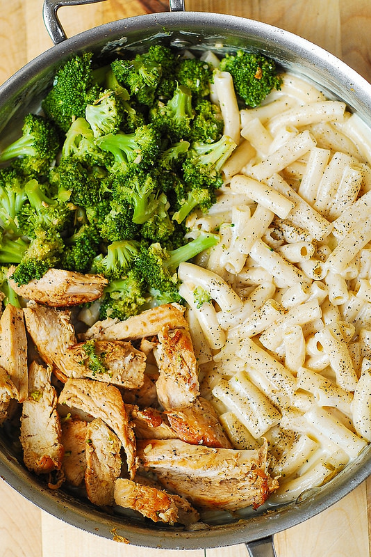 chicken & brocolli alfredo pasta weekly meal plan week 13