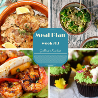 weekly meal plan week 13 collage