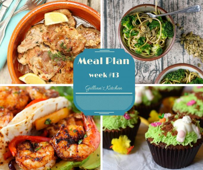 weekly meal plan week 13 collage