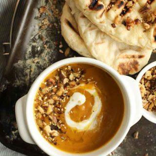 Spiced Roast Winter Veg Soup-